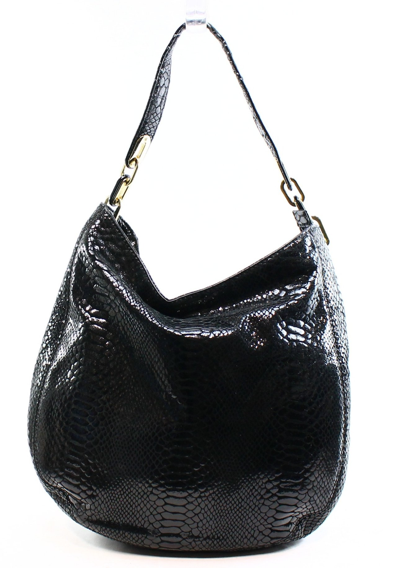 black and gray michael kors bag  michael kors black patent