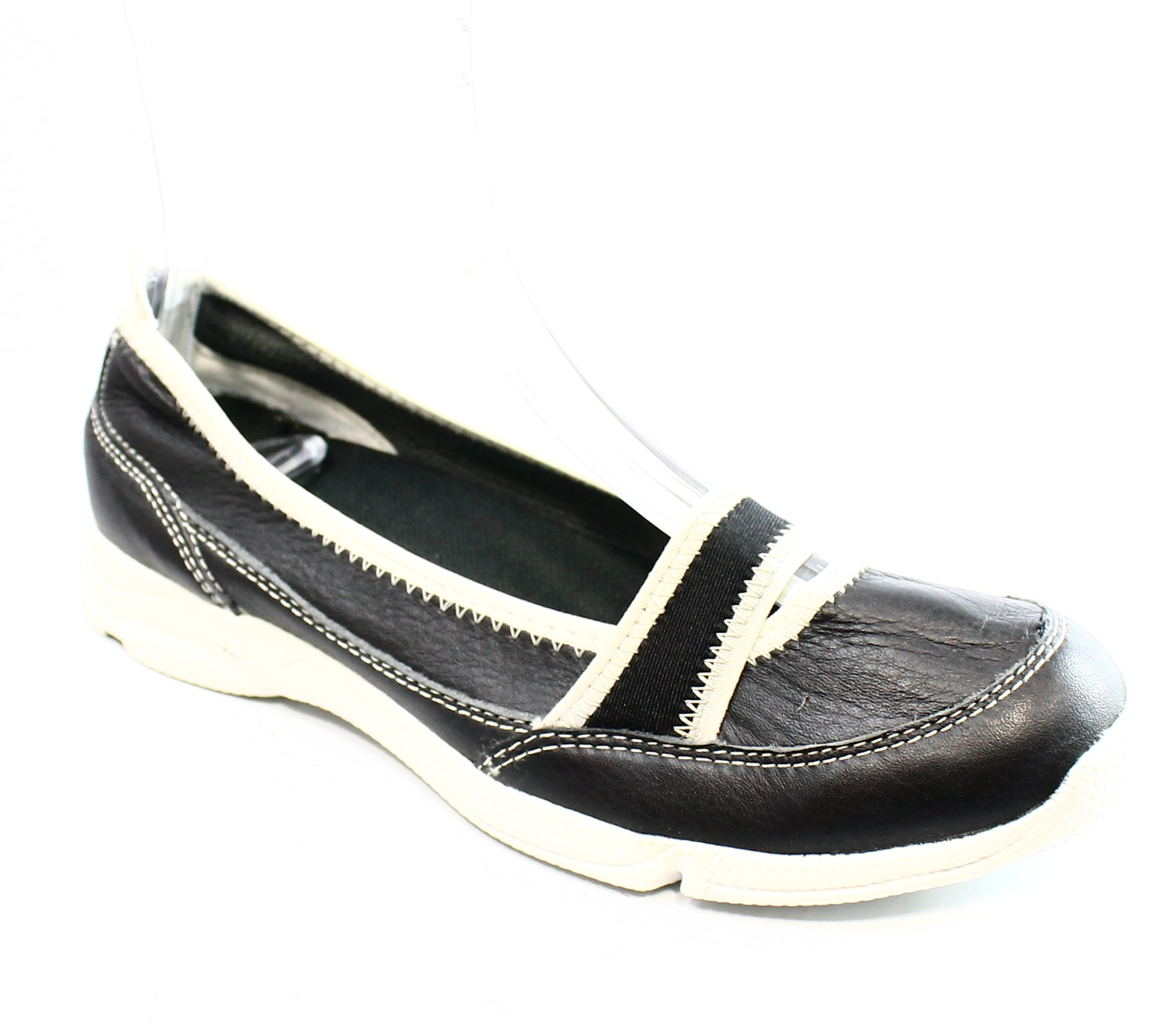 rockport new black white s shoes us size 5 loafers