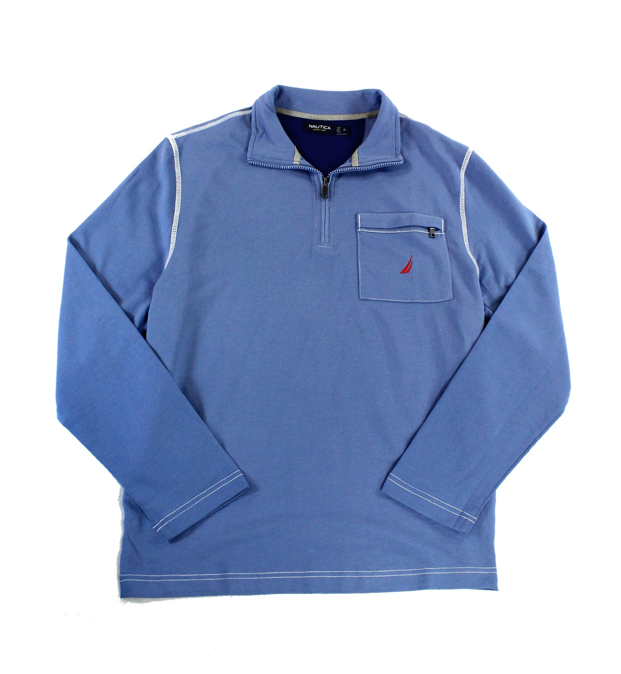 Nautica new mens sweater 1 4 zip pullover long sleeve for Pull over shirts for mens