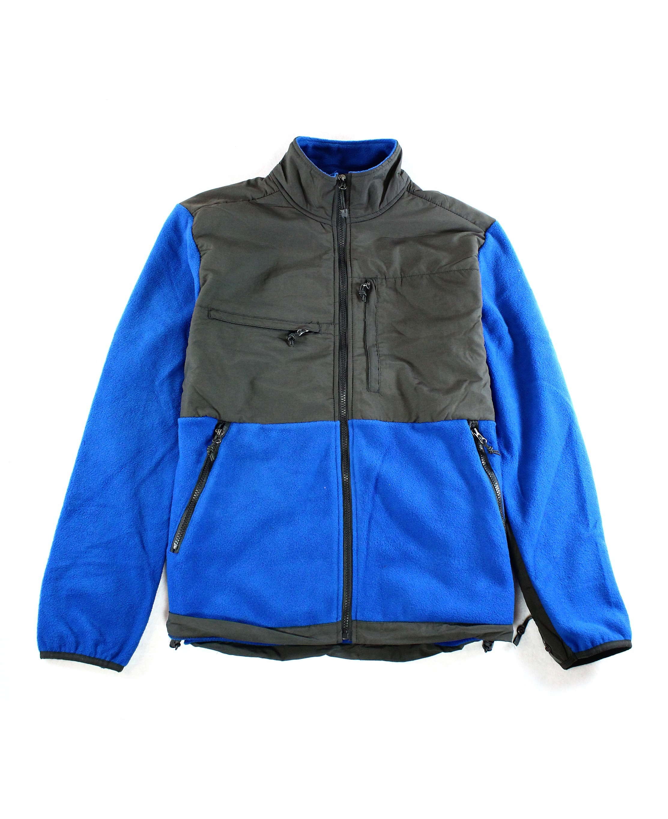 Mountain Fog Fleece Jacket NEW Two-Tone Colorblock Fall Zip Up $69