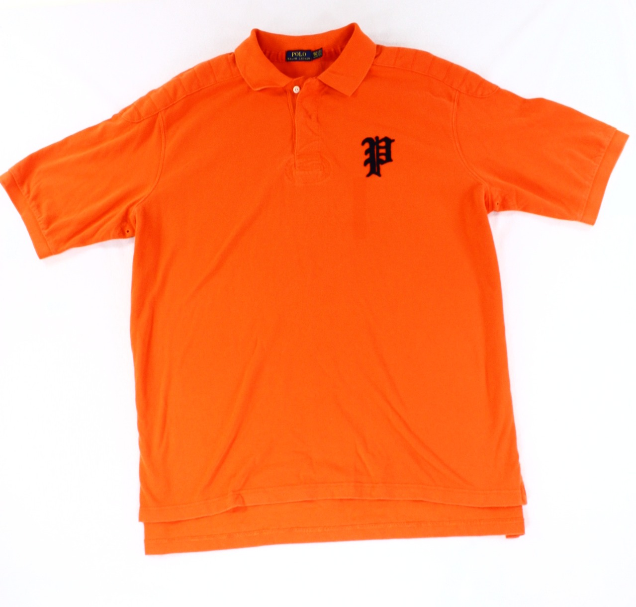 Polo ralph lauren new bright orange mens us size 2xlt polo for Van heusen studio shirts big and tall