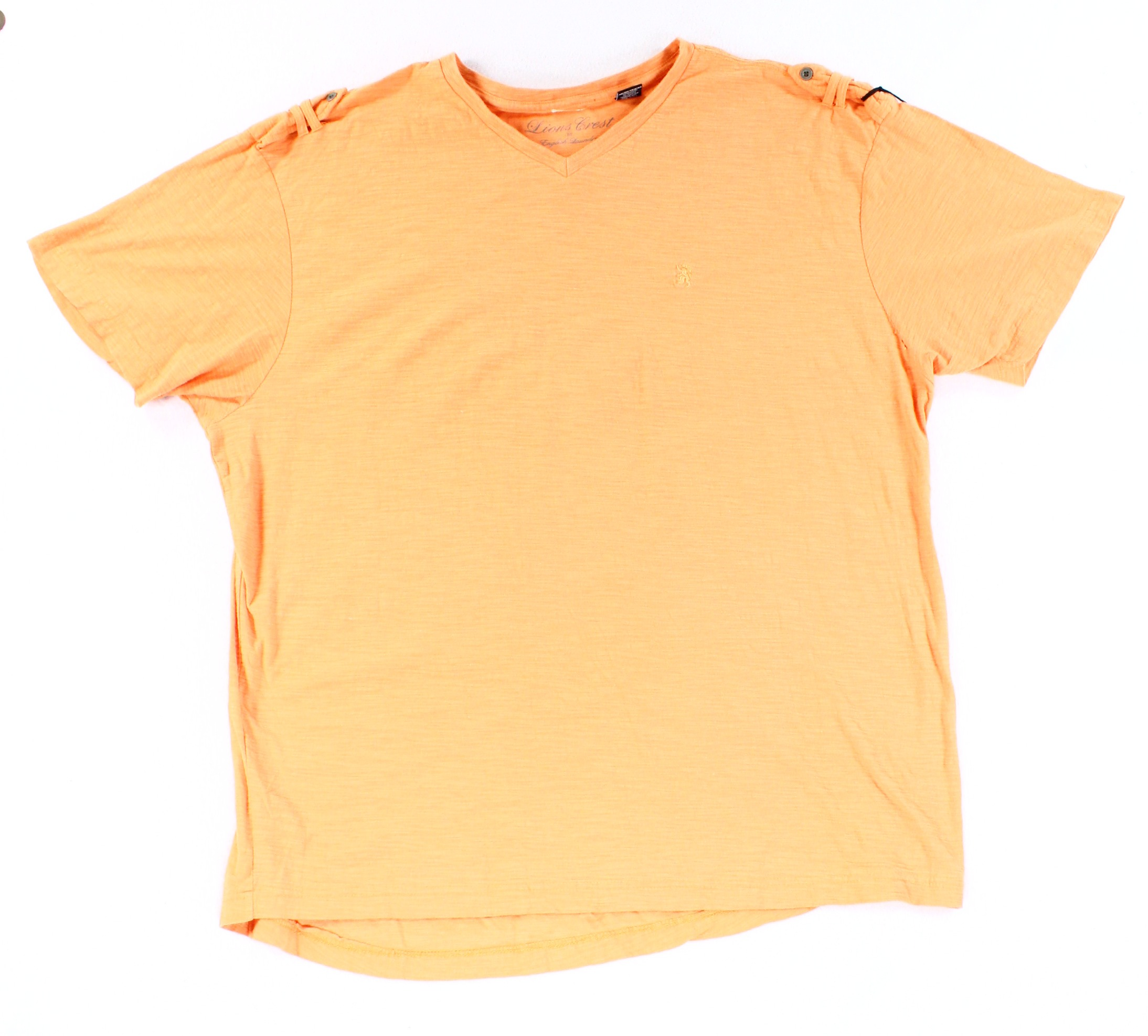 Lions crest by english laundry new orange men big 2x tee for Van heusen studio shirts big and tall