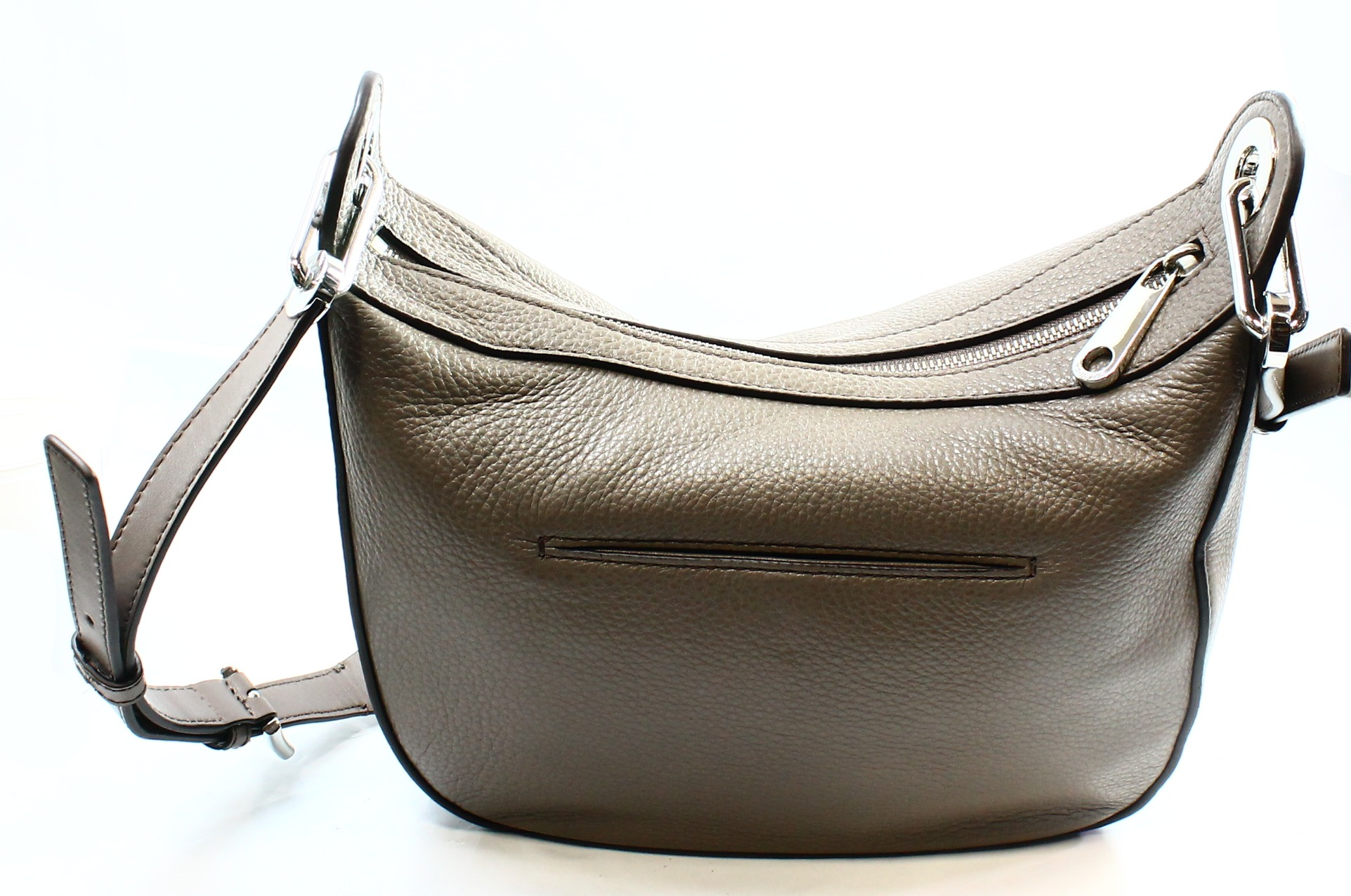 coach pink and gray purse  category:handbags