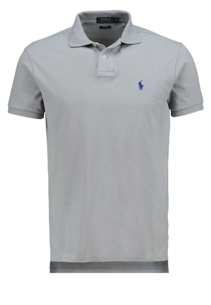 Polo Ralph Lauren New Barn Gray Mens Medium M Custom Fit Polo Shirt