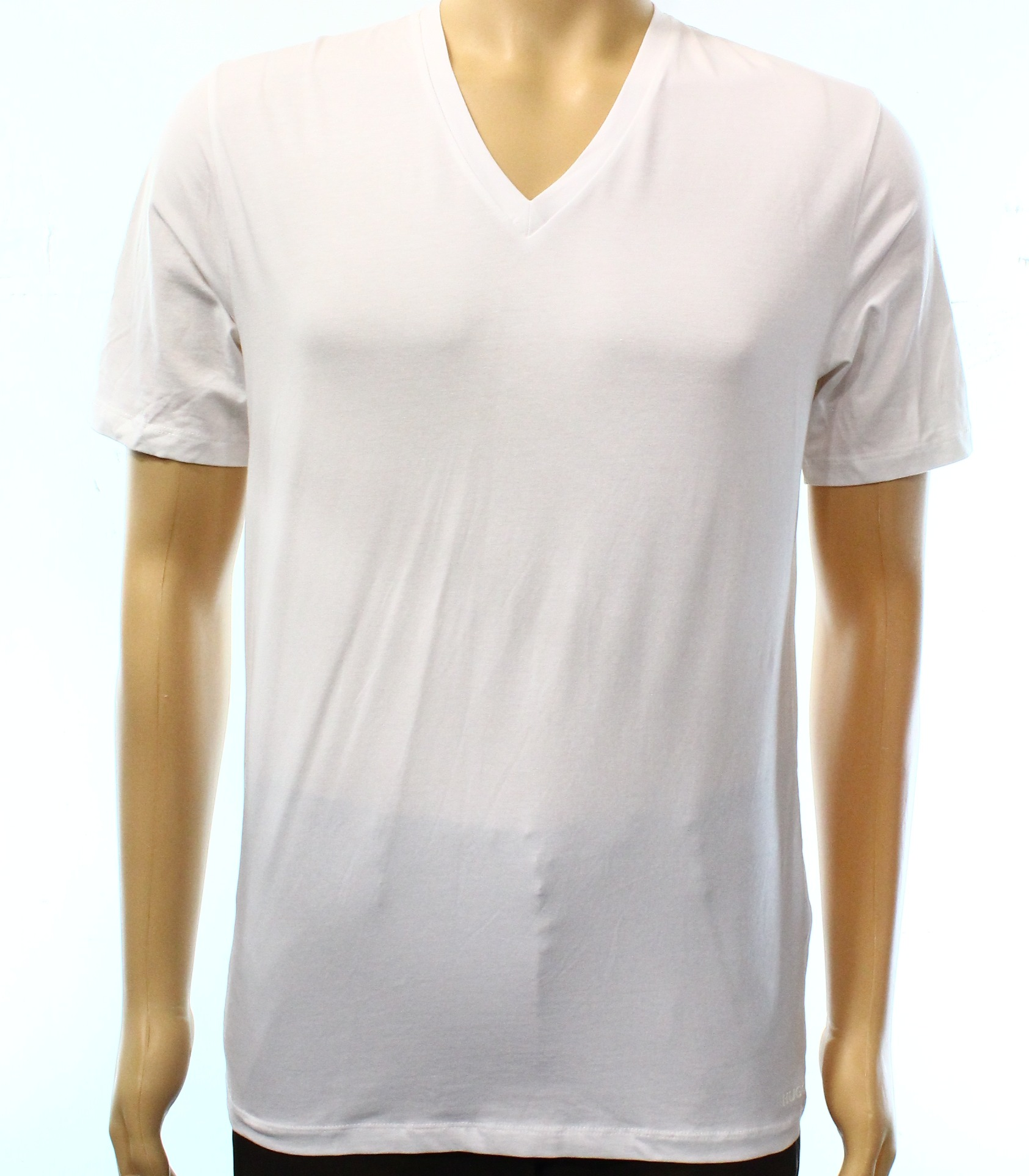 Hugo boss new white mens us size large l solid v neck t for Hugo boss t shirts amazon