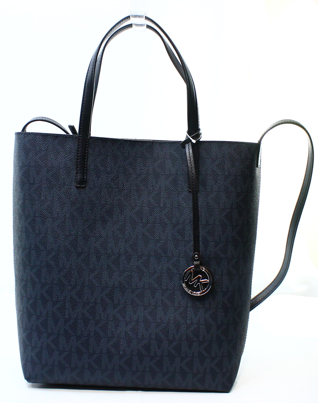 michael kors new blue light sky pvc hayley signature tote bag purse. Black Bedroom Furniture Sets. Home Design Ideas
