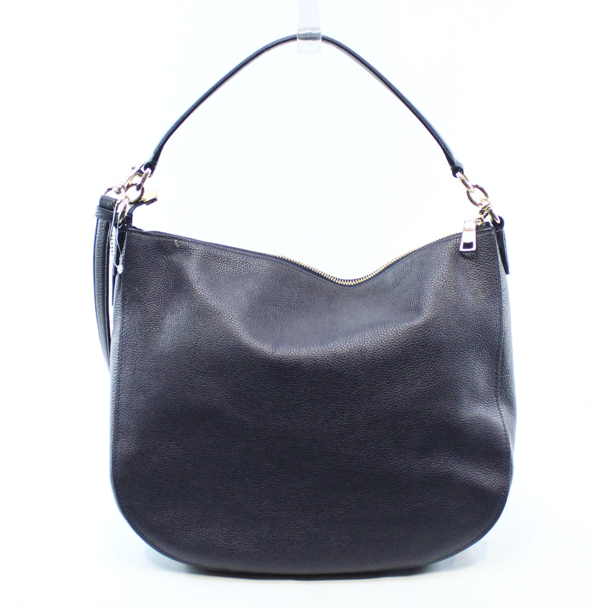 Coach New Blue Navy Pebble Leather Turnlock Hobo Shoulder