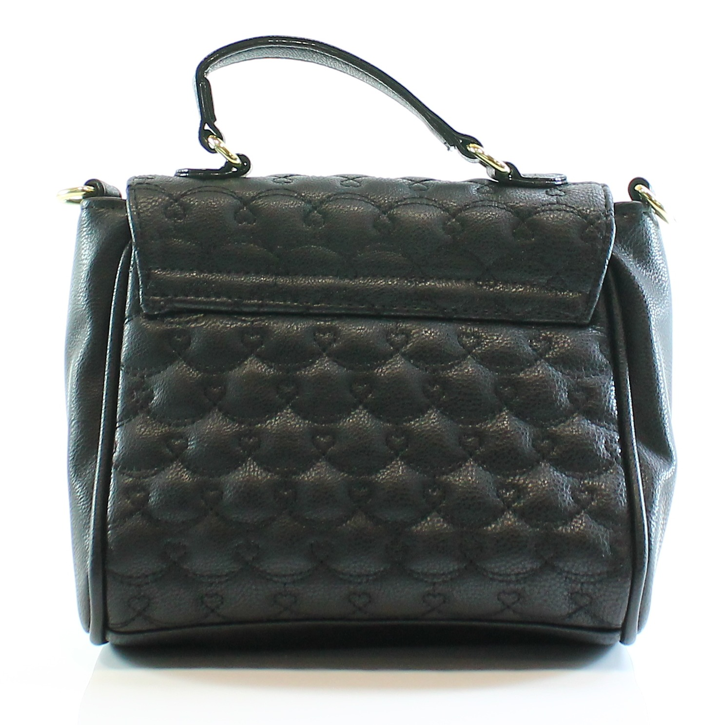 Betsey Johnson New Black Quilted Faux Leather Cross Body