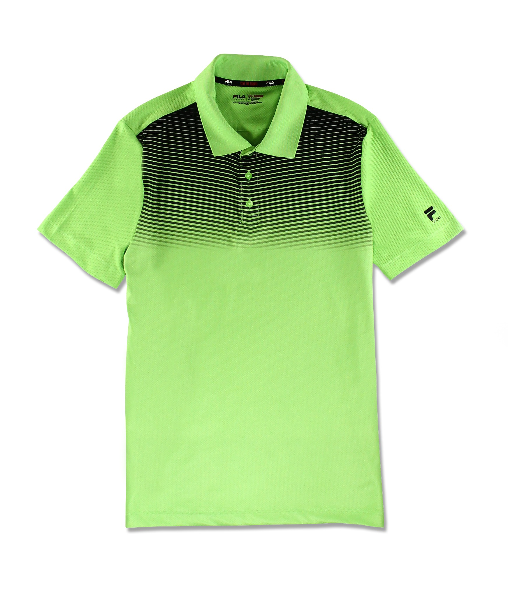 Fila Sport New Mens Athletic Fit Performance Golf Polo