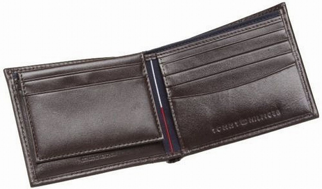 Tommy Hilfiger NEW Men/'s Bifold /& Valet Stitched Premium Leather Logo Wallet