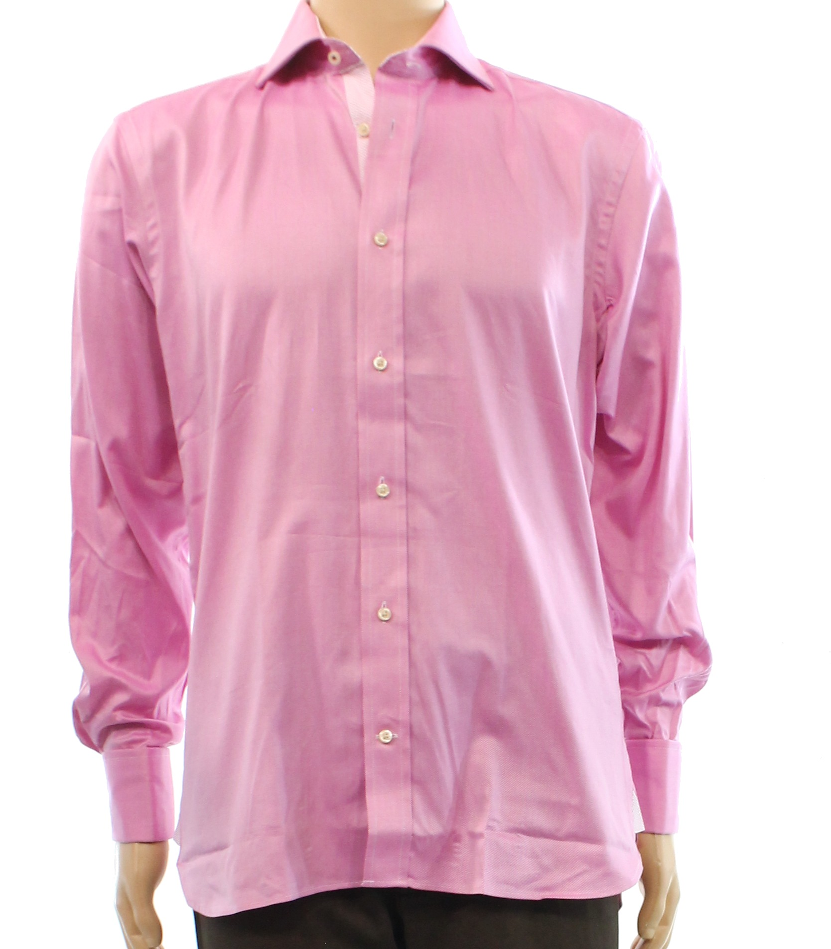 c2ea7876b526 Ted Baker Pink Endurance Mens USA Size 15 1 2 Cotton Dress Shirt ...