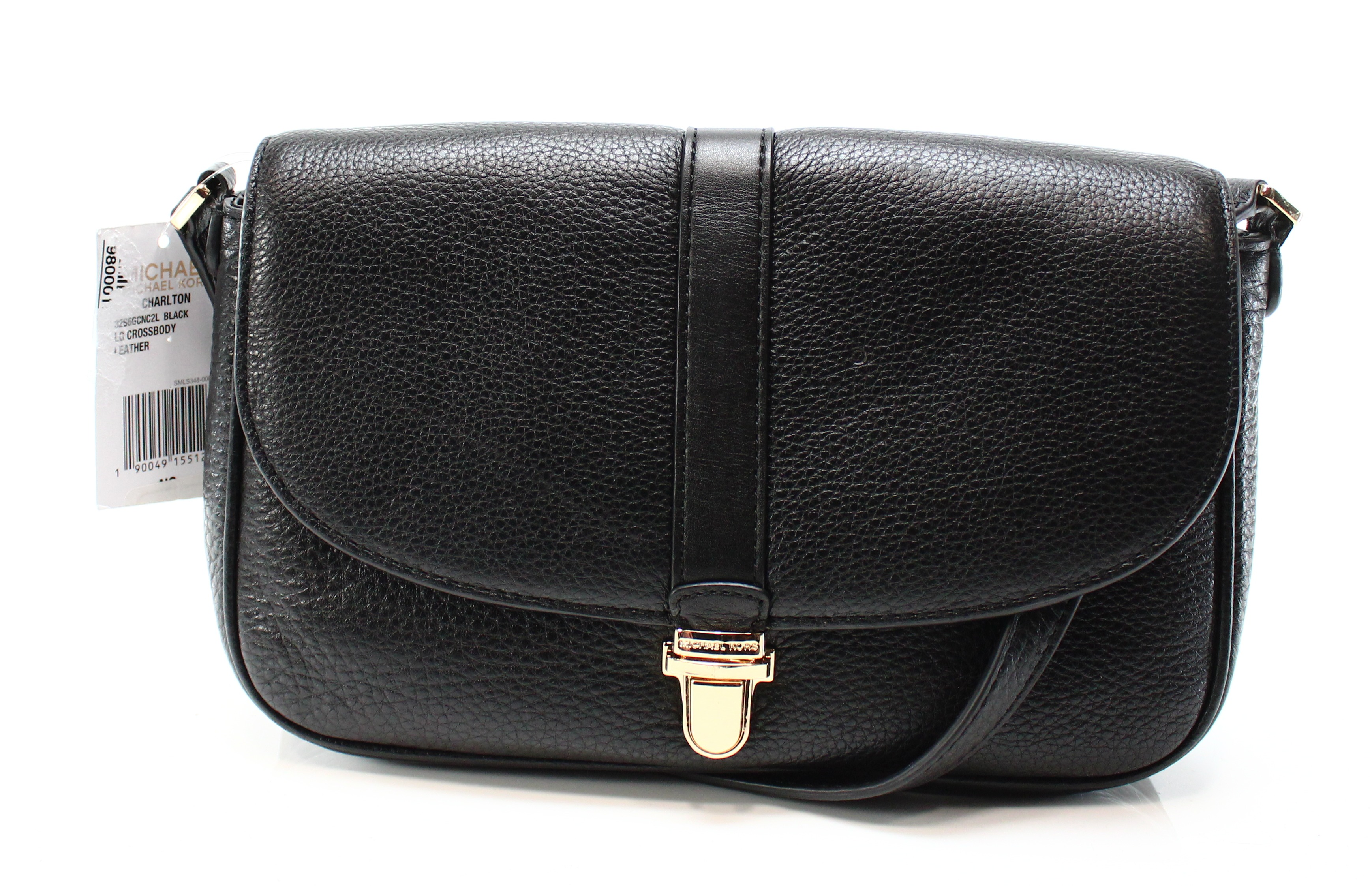 b55e47f41bf72b Michael Kors Black Leather Crossbody Purse | Stanford Center for ...