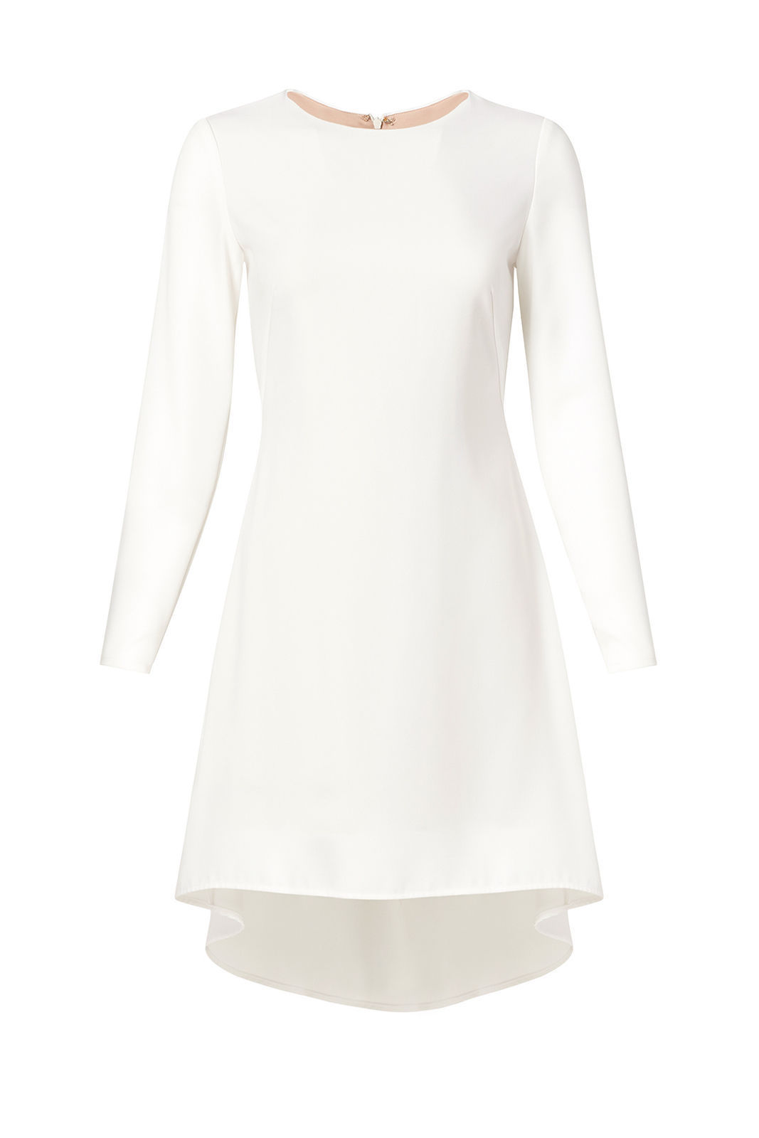 Nha-Khanh-White-Women-039-s-US-Size-4-Sheath-Stretch-Crepe-High-Low-Dress-425-111