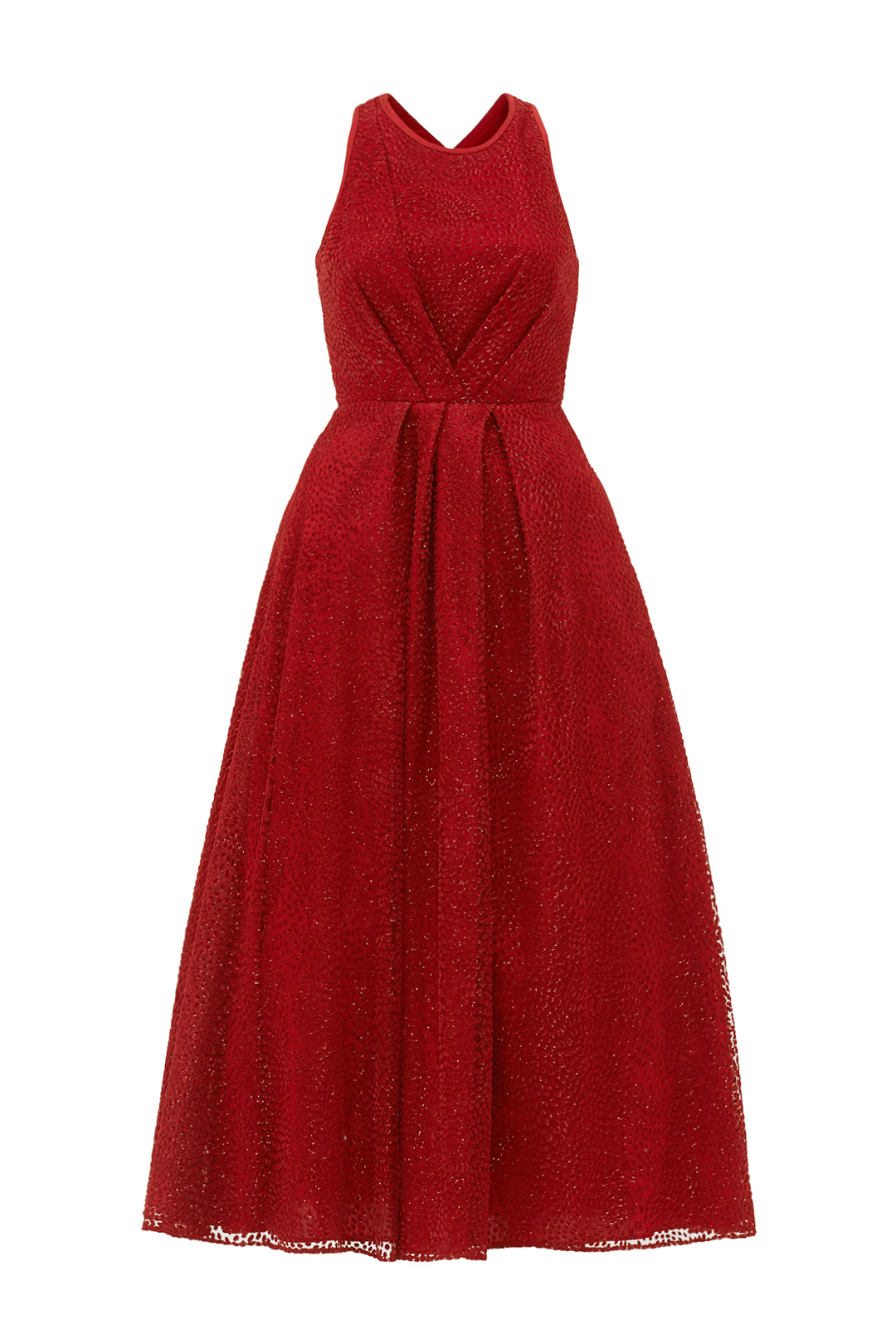 ML Monique Lhuillier Red Women\'s Size 8 Shimmer Crossover Gown $698 ...