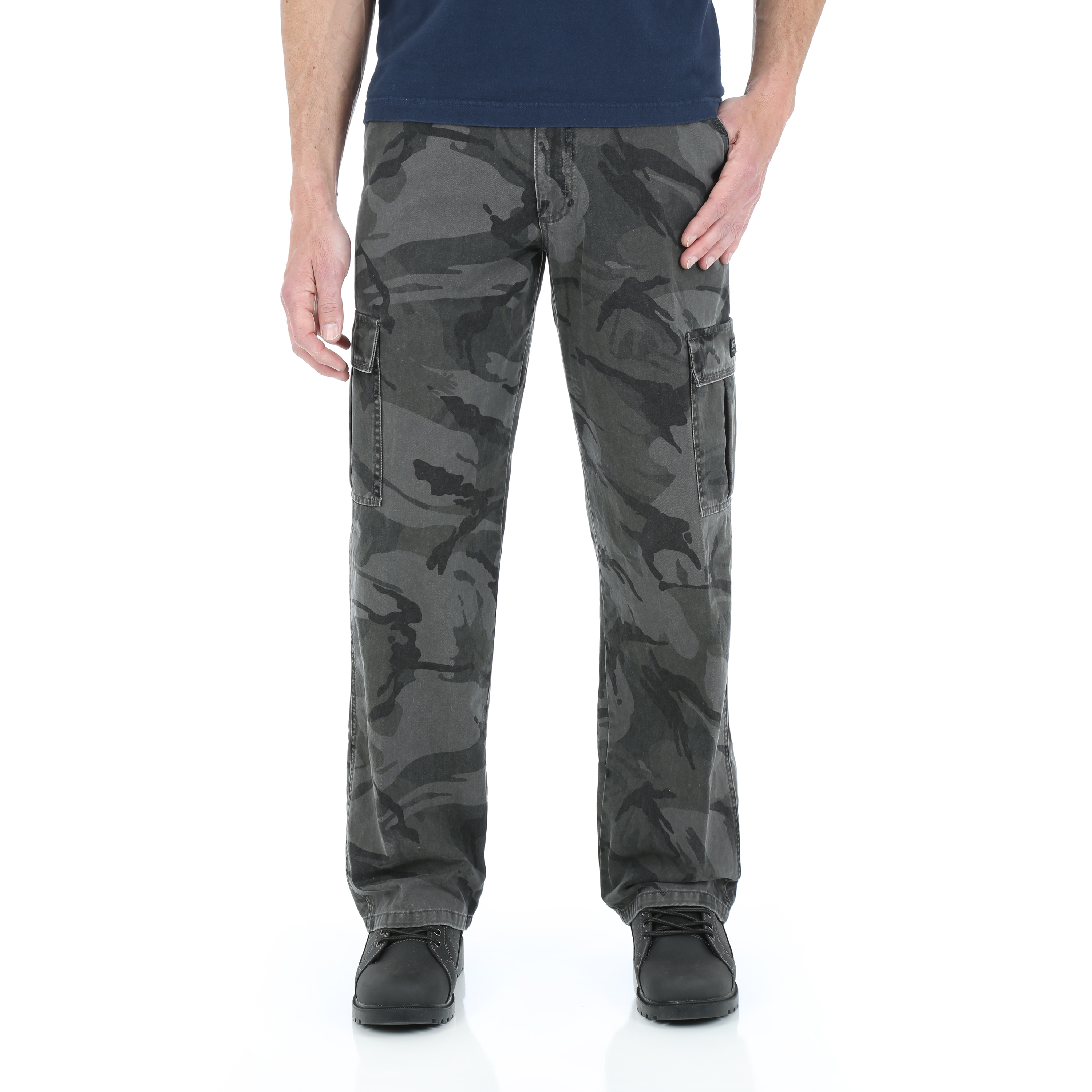 Wrangler Mens Loose Fit Twill Cargo Pants
