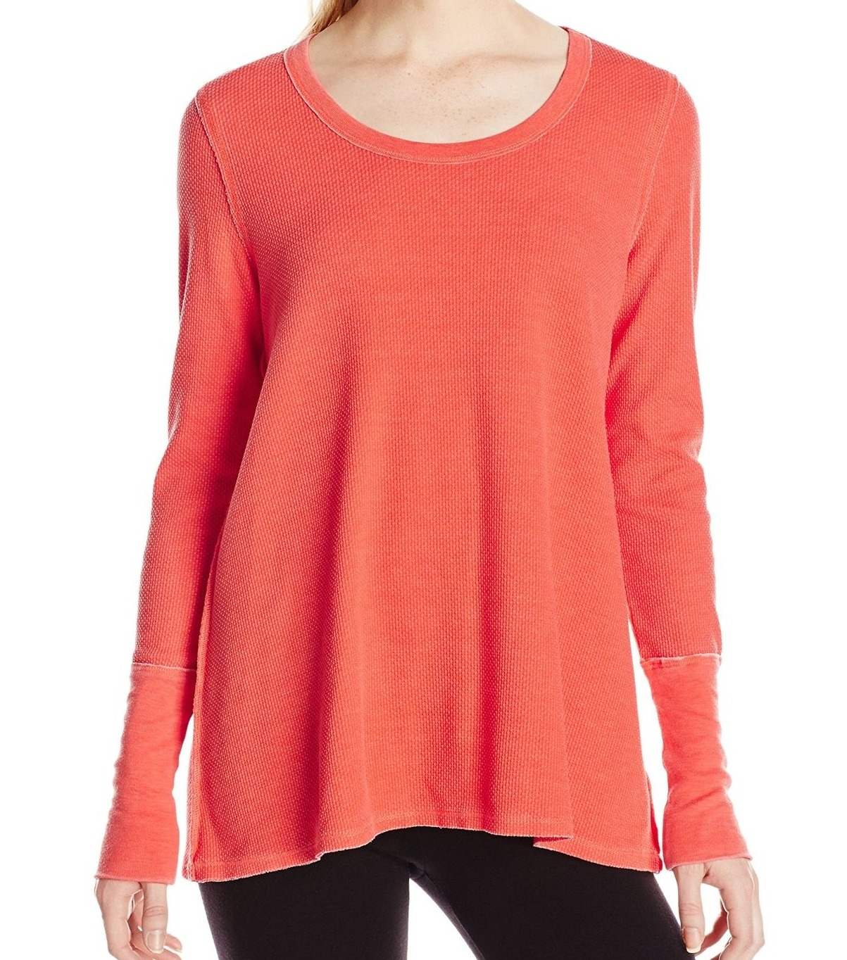 Kensie-NEW-Orange-Women-039-s-Size-XL-Thermal-Tunic-Top-Athletic-Apparel-49-846