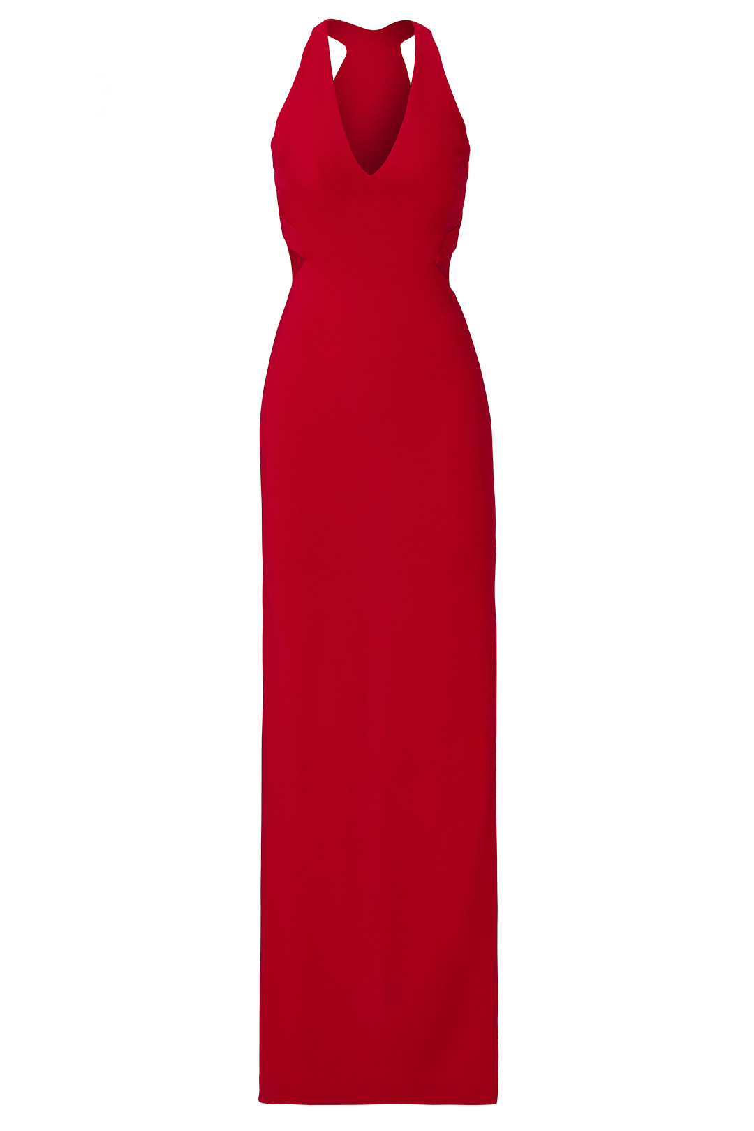 Nicole Miller Red Women\'s Size 4 V-Neck Mesh Illusion Ponte Gown ...