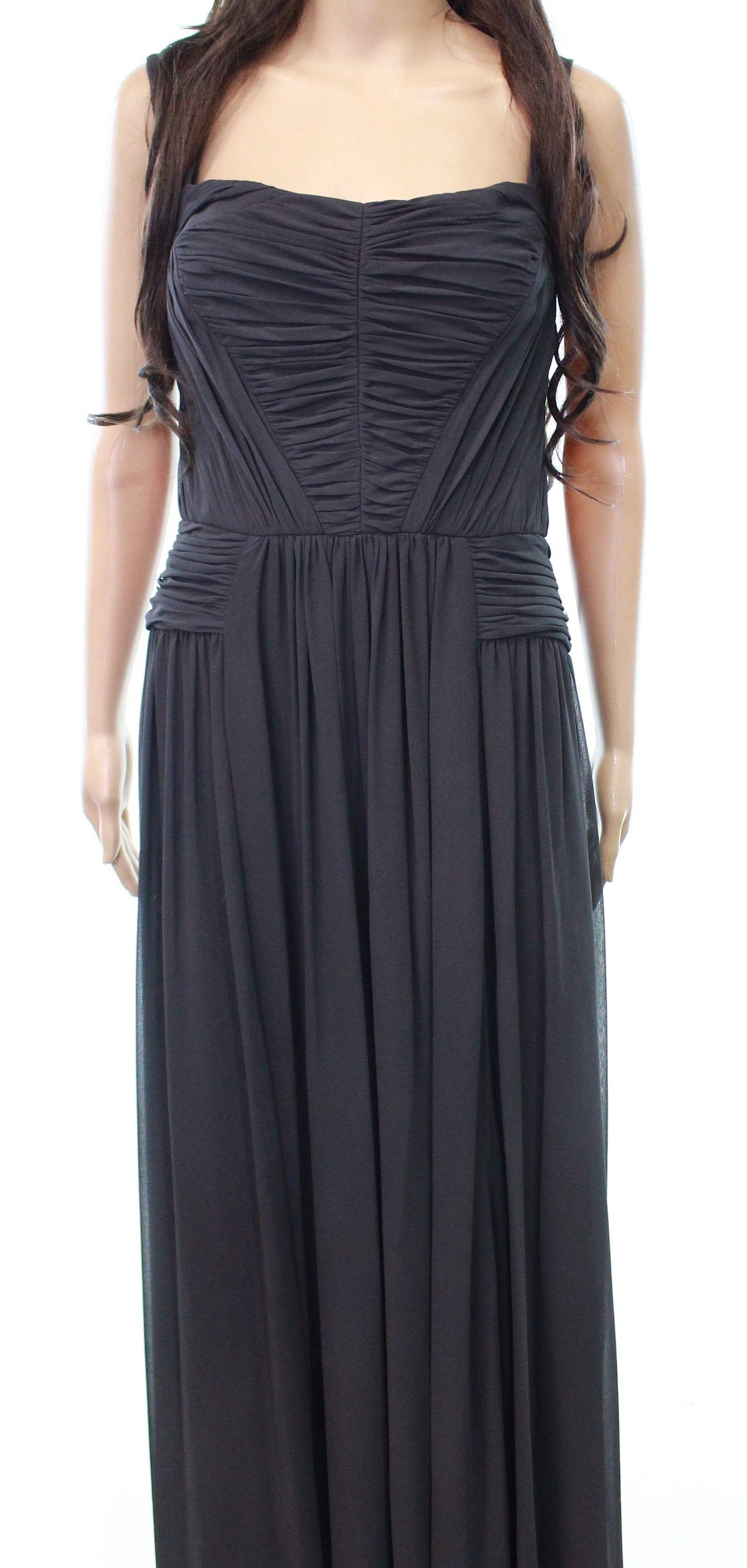 Vera Wang NEW Gray Women\'s Size 14 Solid Ruched Prom Gown Dress $368 ...