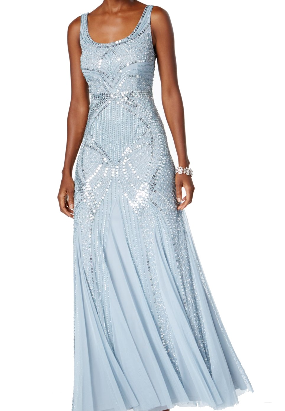 Adrianna Papell NEW Blue Women\'s US Size 12P Petite Prom Gown Dress ...