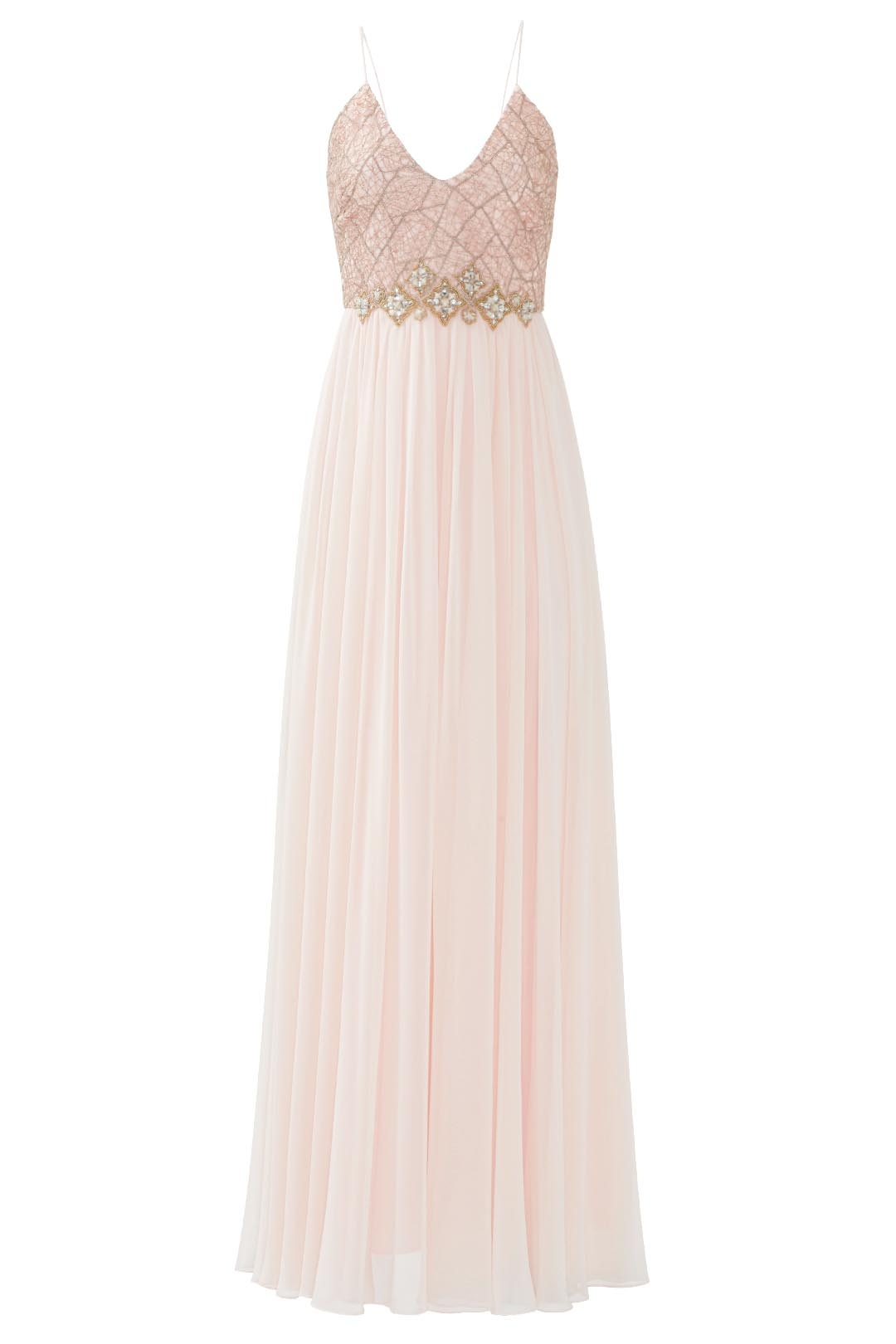 Badgley Mischka Blush Pink Women\'s Size 10 Embellished Lace Gown ...