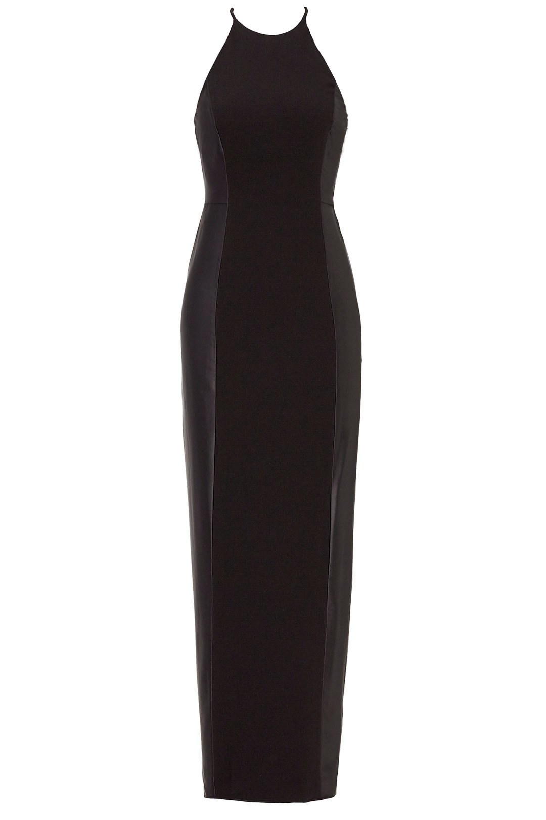 252286ed7fdc8 Details about Halston Heritage Black Women's Size 10 Gown Crepe Halter Prom  Dress $525- #464