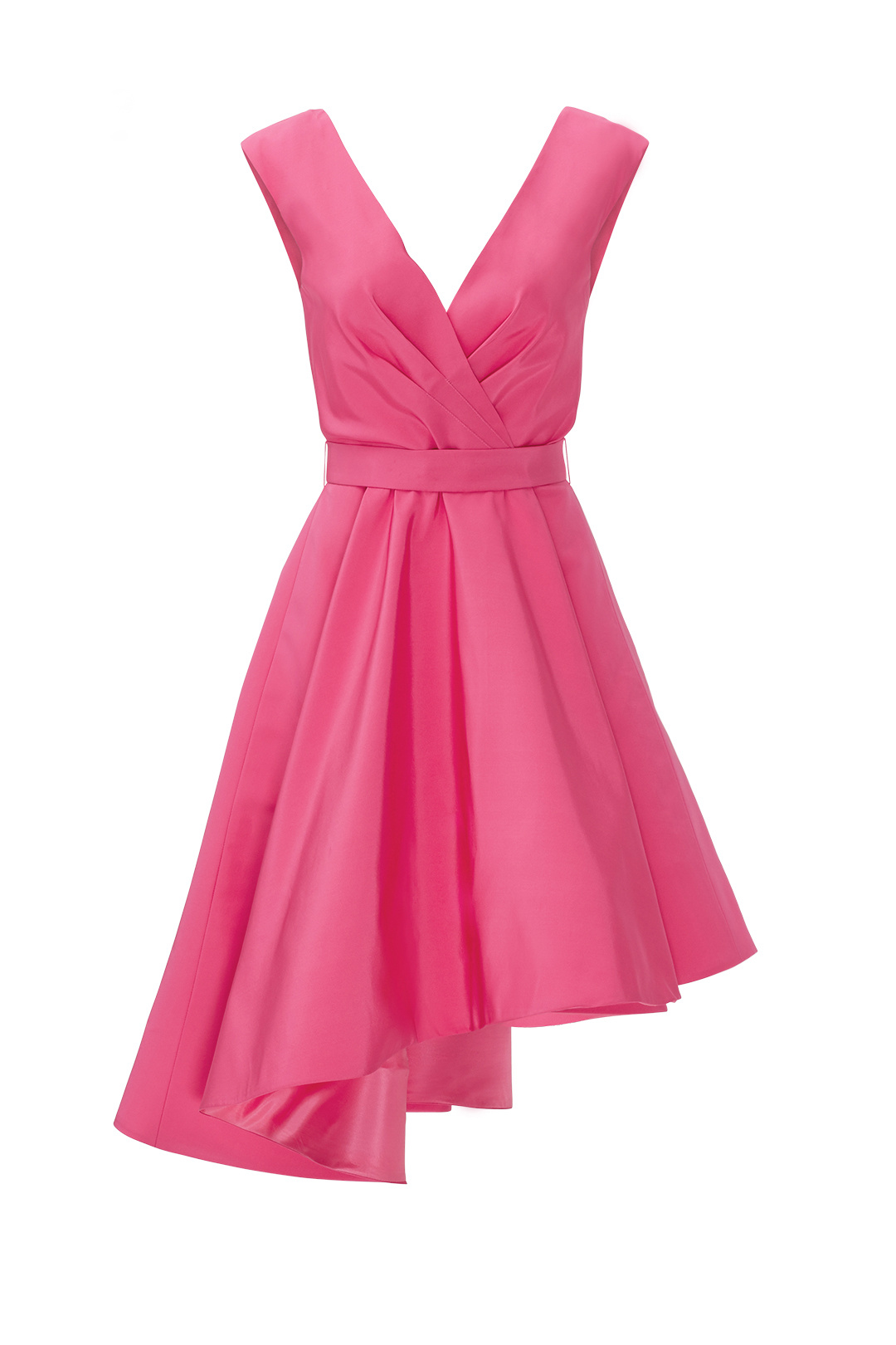 Christian Siriano Pink Pleated Aysmmetrical Women\'s 6 A-Line Dress ...