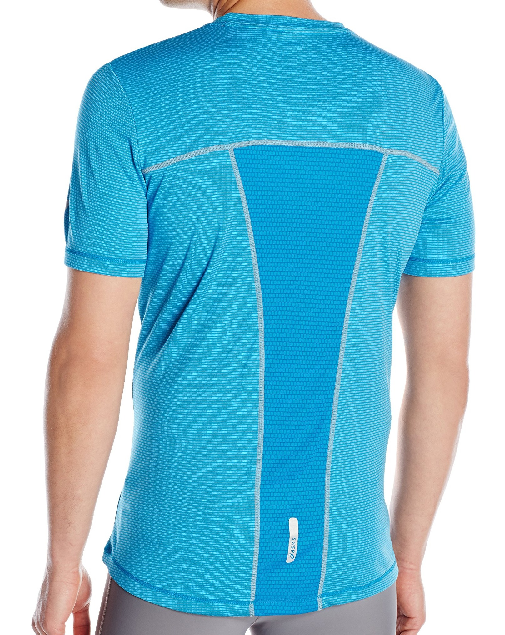 Asics-NEW-Striped-Mens-Shosha-Performance-Short-Sleeve-Tee-T-Shirt-40 thumbnail 3