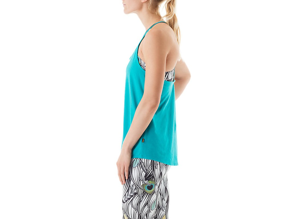 Asics-NEW-Solid-Women-039-s-Slub-Knit-Performance-Scoop-Neck-Tank-Top thumbnail 9
