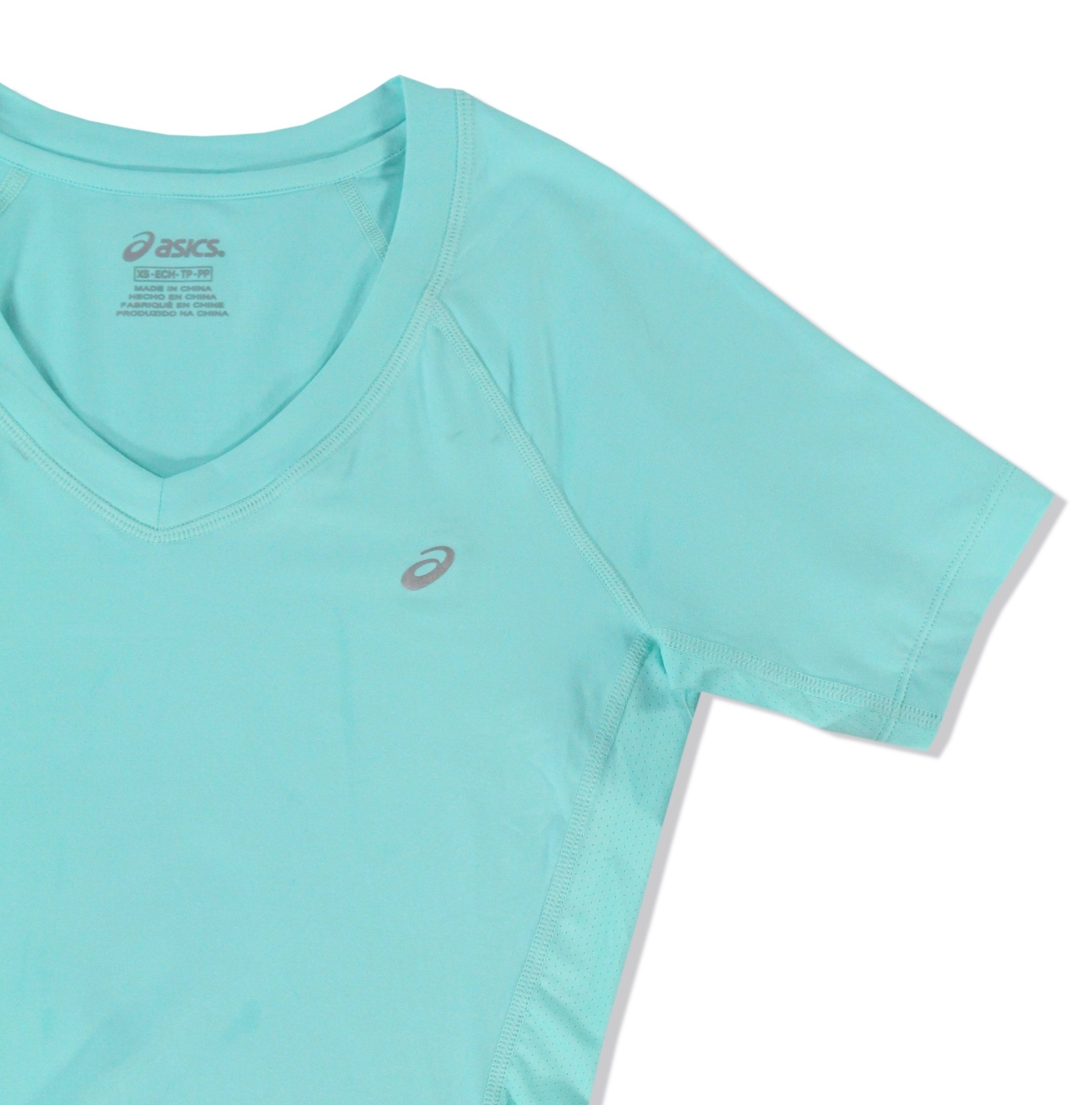 Asics-NEW-Solid-Hue-Women-039-s-V-Neck-Performance-ASX-Dry-T-Shirt-Top-38 thumbnail 4