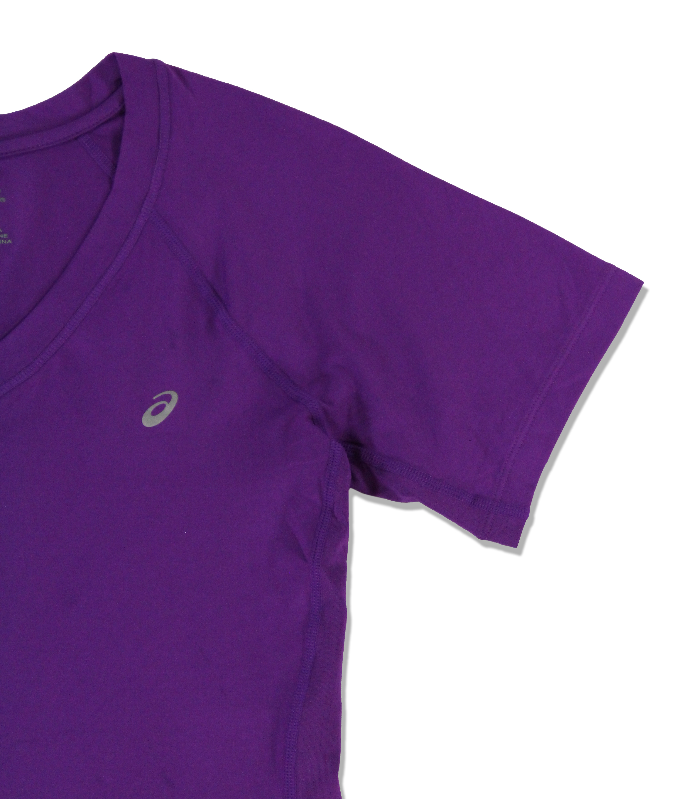 Asics-NEW-Solid-Hue-Women-039-s-V-Neck-Performance-ASX-Dry-T-Shirt-Top-38 thumbnail 14