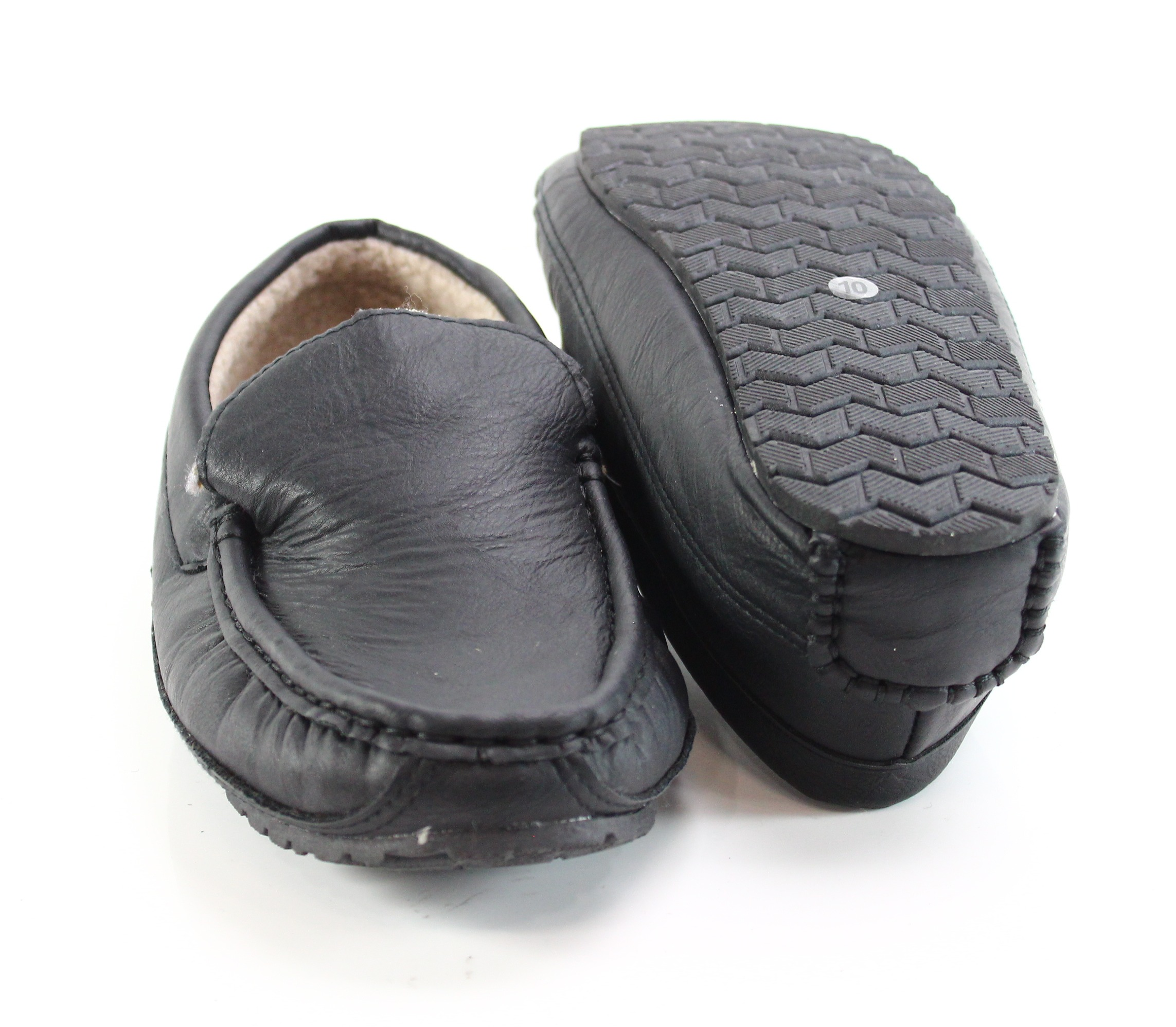 14th & Union NEW Black Men's Size 10M Acrylic Moccasin Slippers Shoes - #829