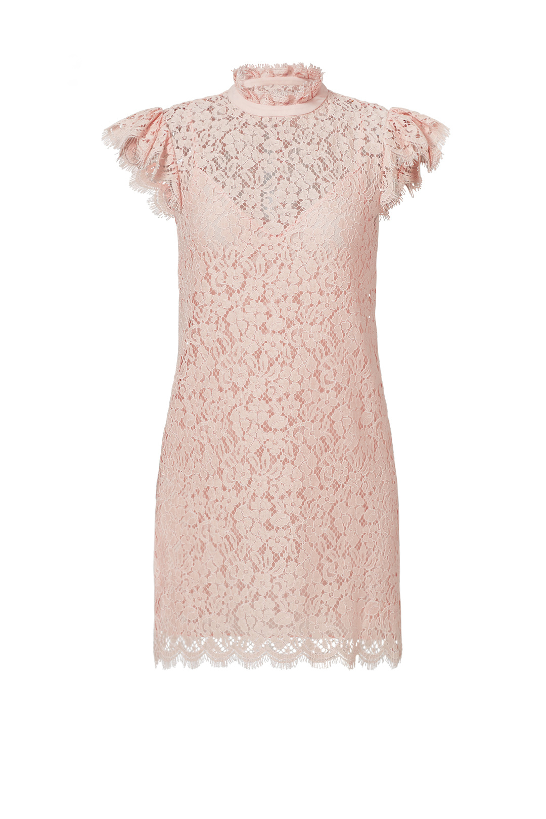 753d8ea5897e Details about Rachel Zoe Pink Women s Size 2 Mock Neck Floral Lace Sheath  Dress  396-  376