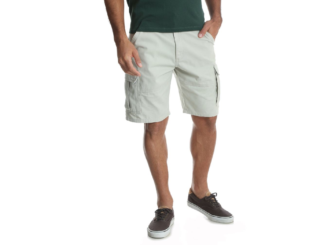Wrangler NEW Mens Relaxed Fit Cargo Khaki Summer Shorts
