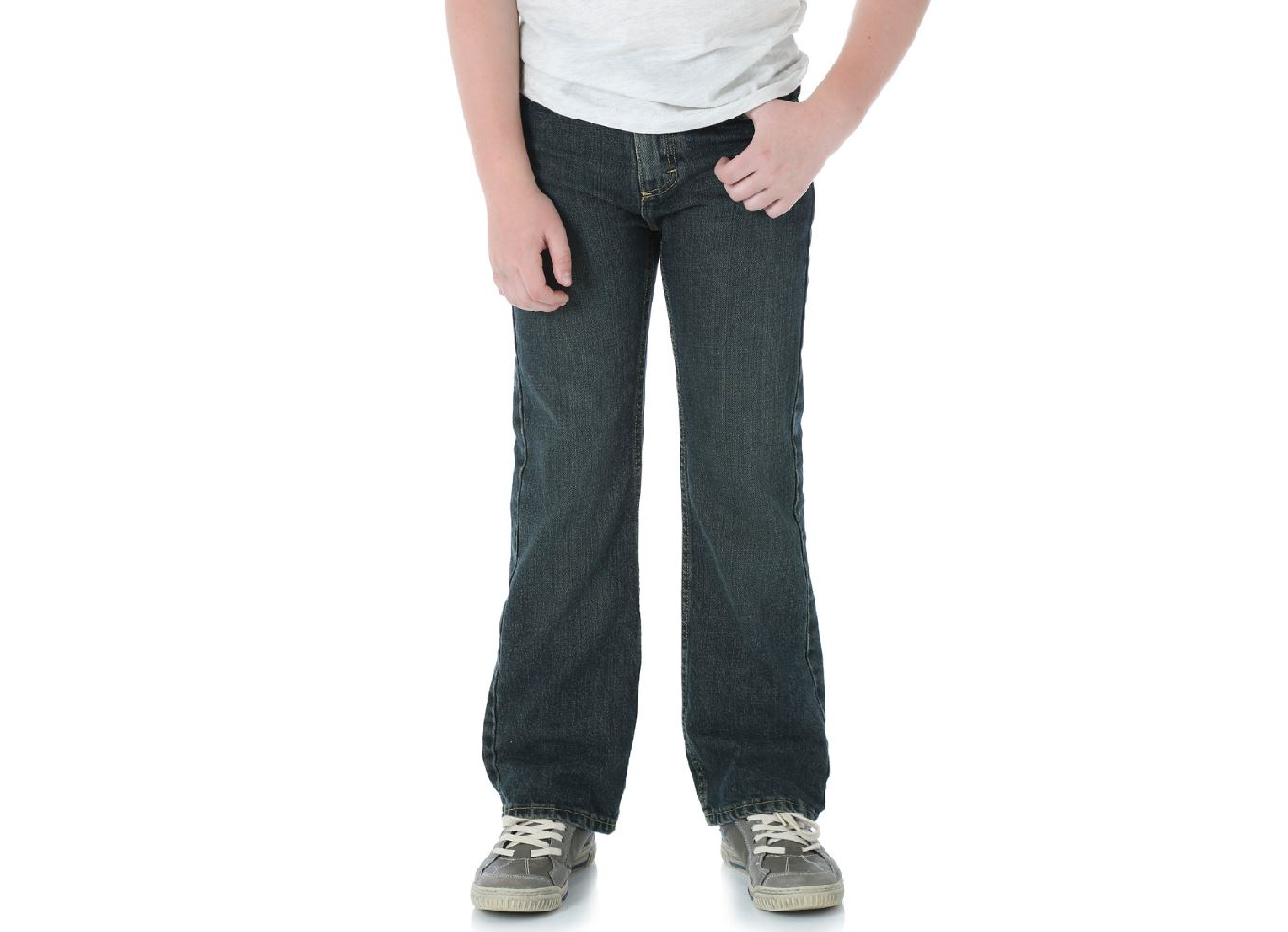 Wrangler-NEW-Boys-Relaxed-Fit-Bootcut-Leg-Dark-Wash-Denim-Jeans