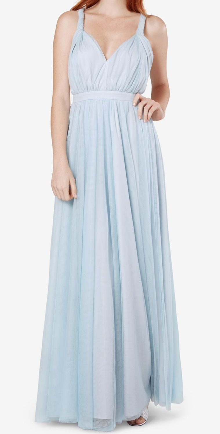 0d1e2dc4b4 Fame and Partners NEW Pale Blue Womens Size 6 Twisted-Strap Gown Dress  249   756