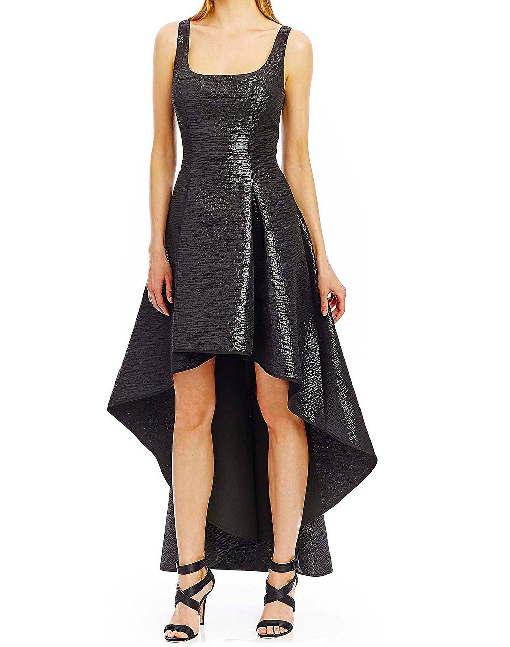 Nicole Miller NEW Black Women\'s Size 12 Gown High-Low Textured Dress ...