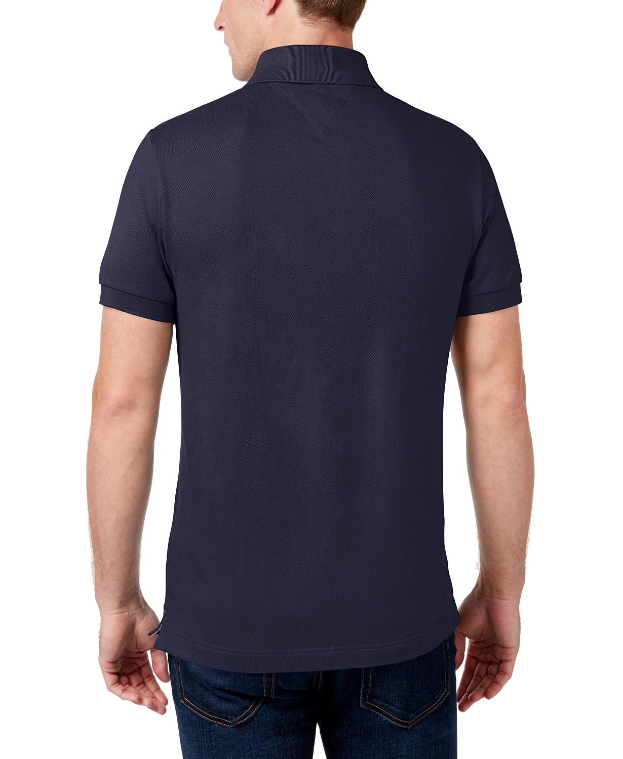 Tommy-Hilfiger-NEW-Custom-Fit-Men-039-s-Solid-Short-Sleeve-Pique-Polo-Shirt