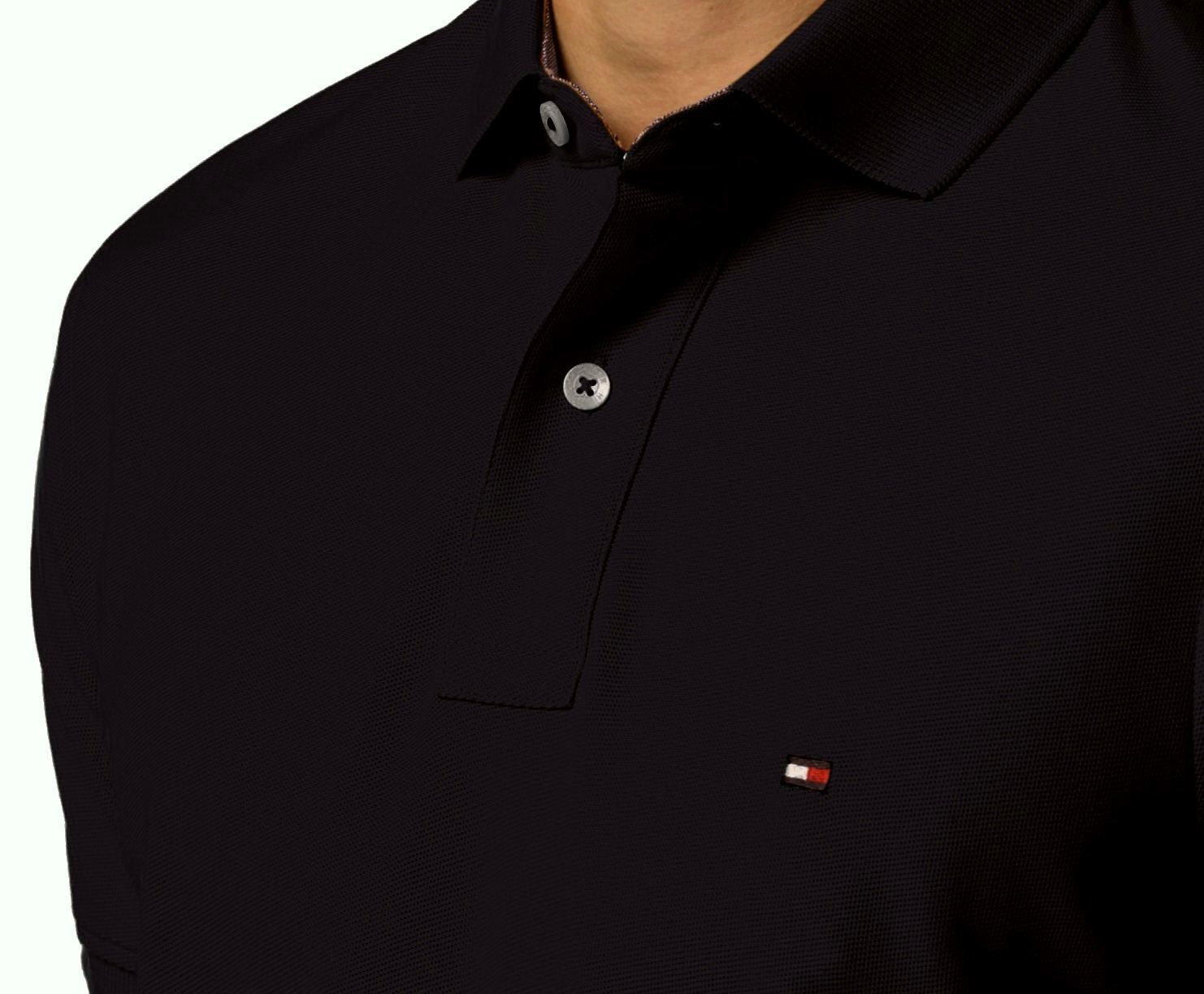 Tommy-Hilfiger-NEW-Custom-Fit-Men-039-s-Solid-Short-Sleeve-Pique-Polo-Shirt thumbnail 4