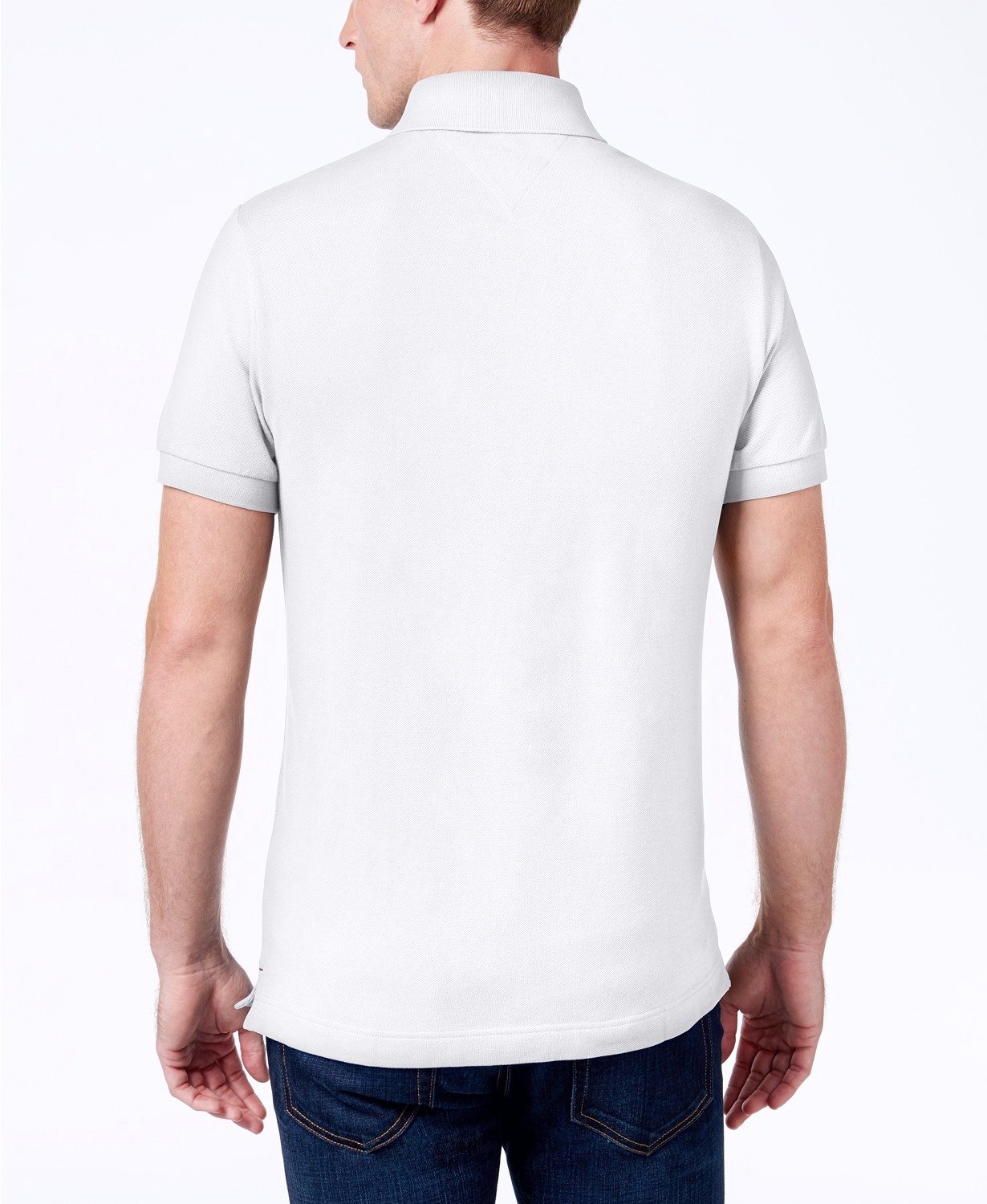 Tommy-Hilfiger-NEW-Custom-Fit-Men-039-s-Solid-Short-Sleeve-Pique-Polo-Shirt thumbnail 15
