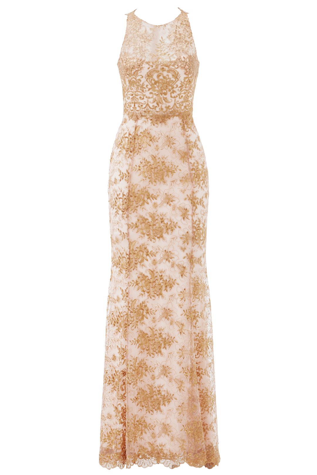Marchesa Notte Pink Women\'s Size 2 Floral Embroidered Gown Dress ...