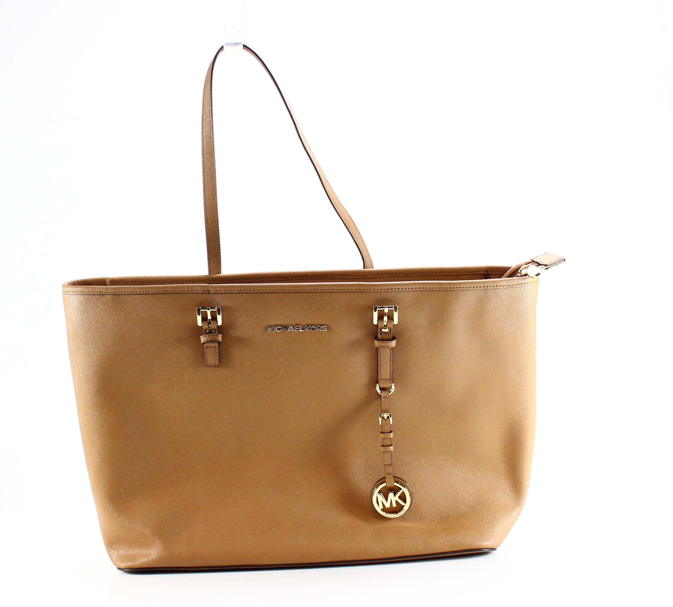 michael kors new brown acorn jet set medium tote leather handbag rh ebay com