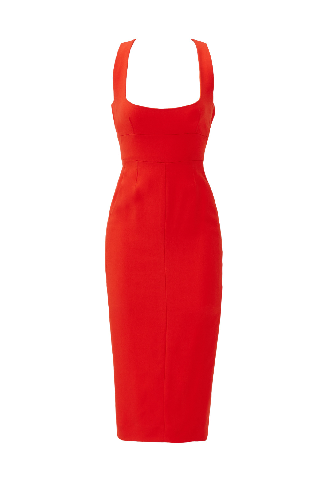 5220dbb903fd Details about Narciso Rodriguez Red Women's Size 00 Open Back Seamed Sheath  Dress $1995- #980