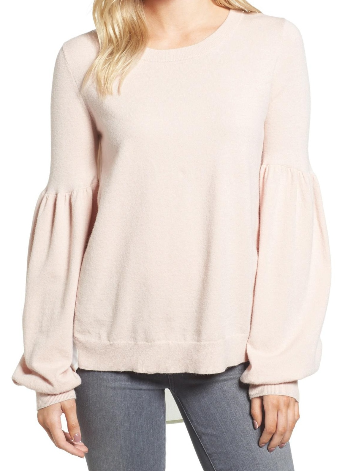 d53890c4b0 Chelsea28 NEW Pink Women s Size Large L Boat Neck Balloon-Sleeve Sweater   577