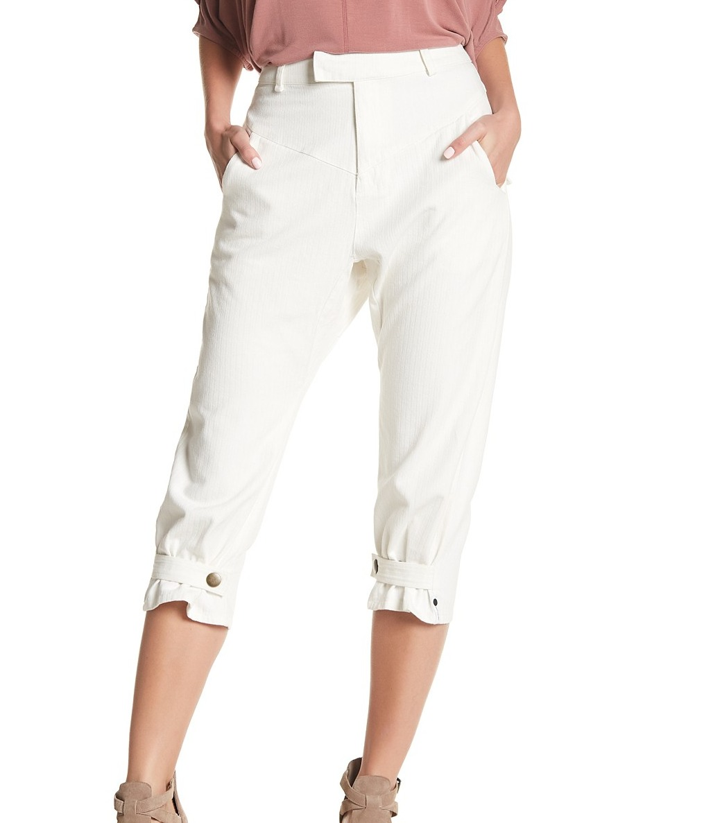 One Teaspoon NEW White Women s Size XS Sailor Chapman Cropped Pants  146-   480 f13eca18d