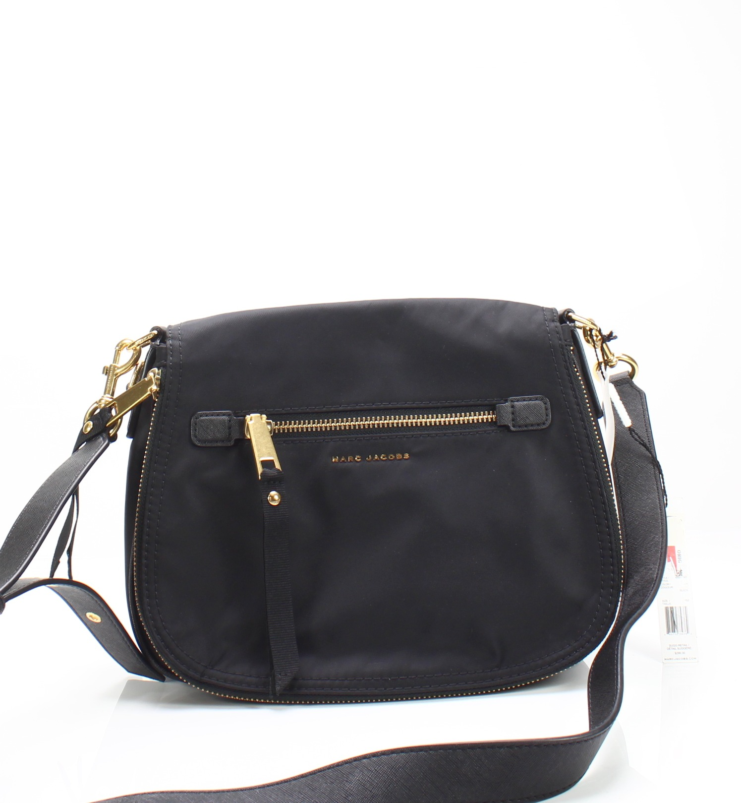 f001ee151348 Marc Jacobs NEW Black Brass Trooper Nylon Shoulder Saddle Bag $295- #058