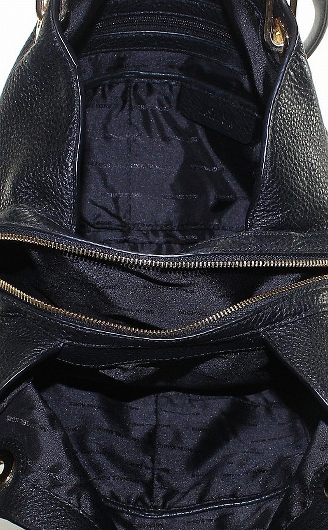 a95efdc6d Michael Kors Black Pebble Leather Raven Large Shoulder Tote Bag $298 ...
