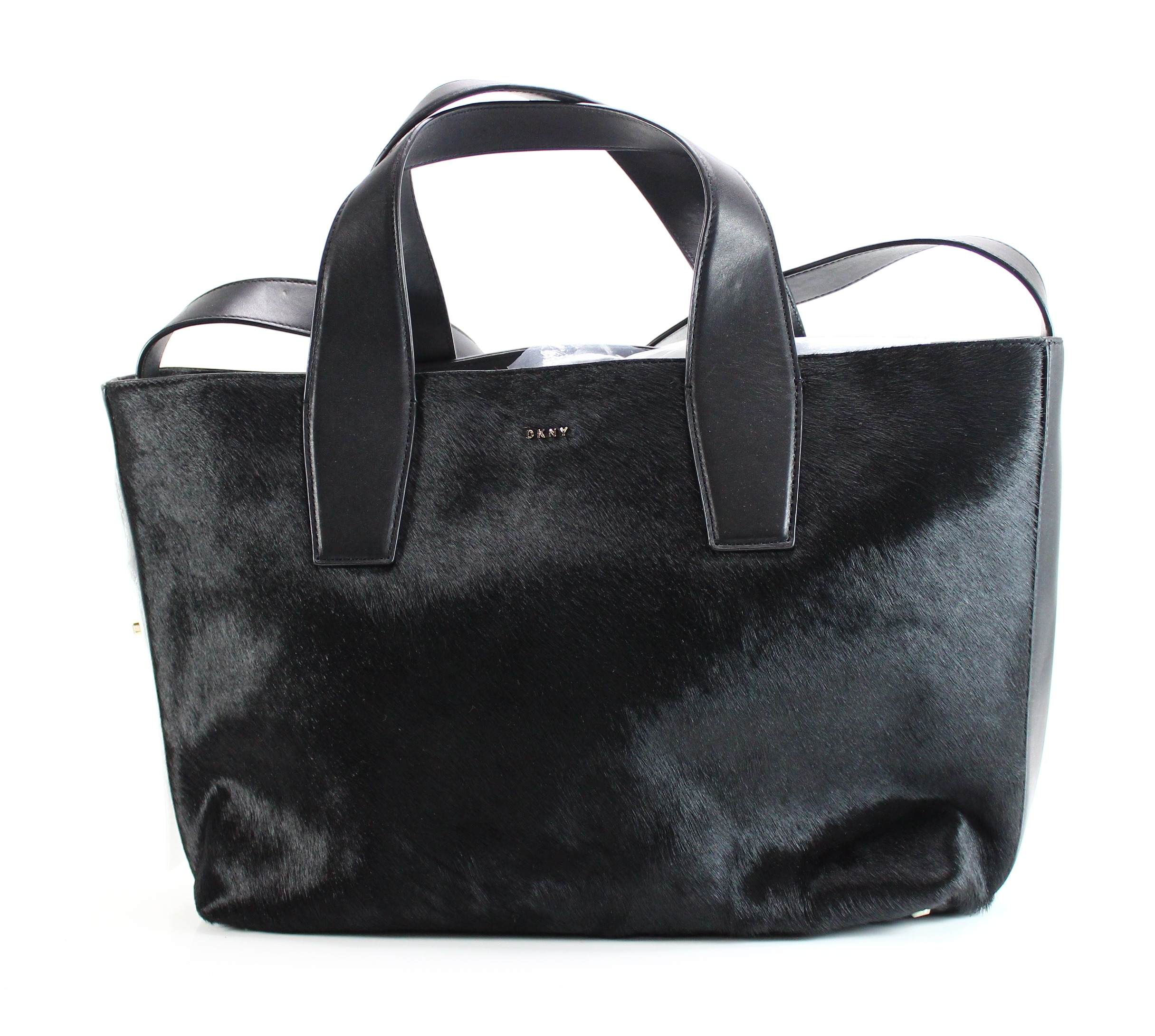 34c367b595938 Details about DKNY NEW Black Peggy Medium Tote Shopper Leather Handbag Purse   698-  015