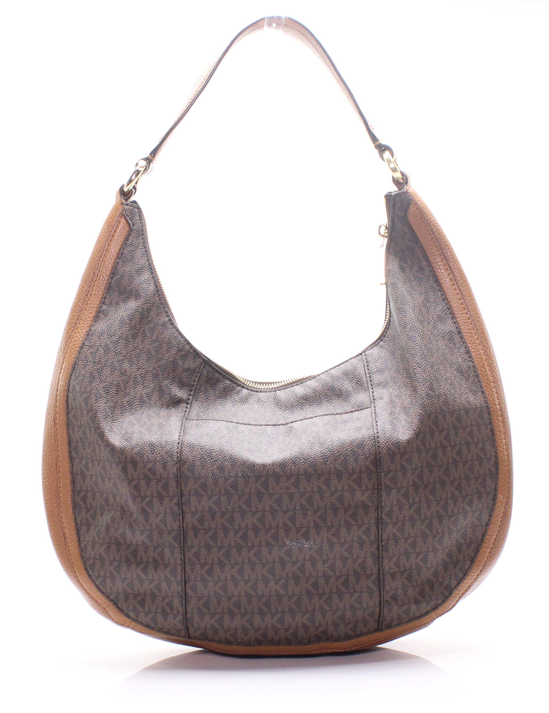d34a2a484b5e Michael Kors Brown Gold Lydia Signature Large Hobo Shoulder Bag $298 ...