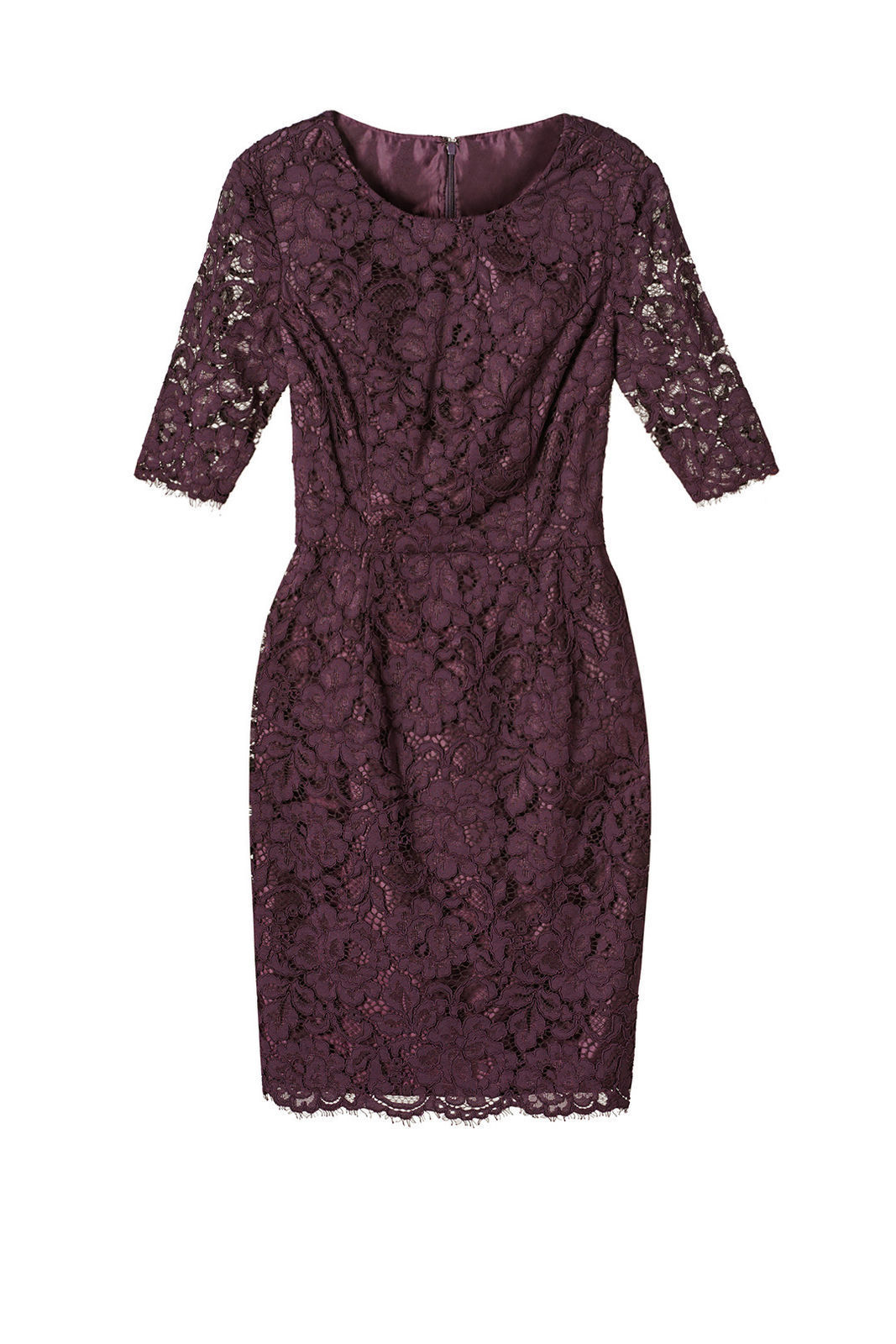 e87adb23 Details about Shoshanna Purple Floral-Lace Women's Size 8 Illusion Sheath  Dress $395- #958