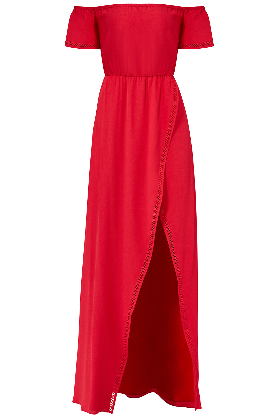 Details about Lovers + Friends Red Women s XS Off Shoulder Front Slit Maxi  Dress  218-  703 4acdf5df0f